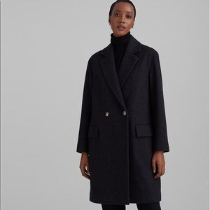 Club Monaco Double Breasted Relaxed Wool Coat